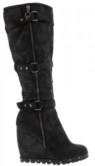 Bota Fashion De Plataforma Color Negro Dollhouse 7.5 TALLA