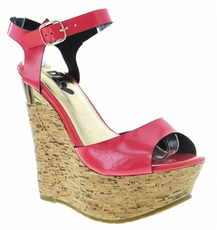 Plataforma De Charol Color Coral Makers 7.5 TALLA
